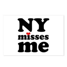 new york misses me Postcards (Package of 8)