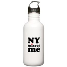 new york misses me Water Bottle
