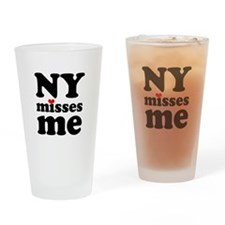 new york misses me Drinking Glass