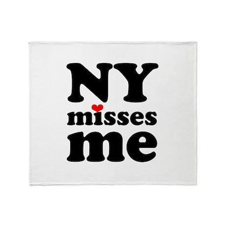 new york misses me Throw Blanket