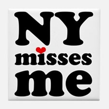 new york misses me Tile Coaster