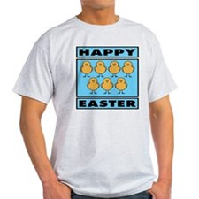 Happy Easter Chicks - Blue T-Shirt