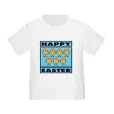 Happy Easter Chicks - Blue T