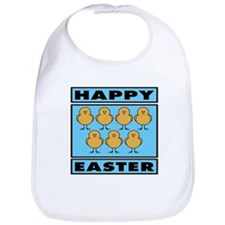 Happy Easter Chicks - Blue Bib