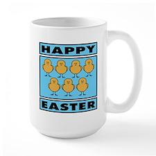 Happy Easter Chicks - Blue Mug