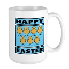 Happy Easter Chicks - Blue Mug