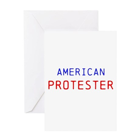 American Protester Greeting Card