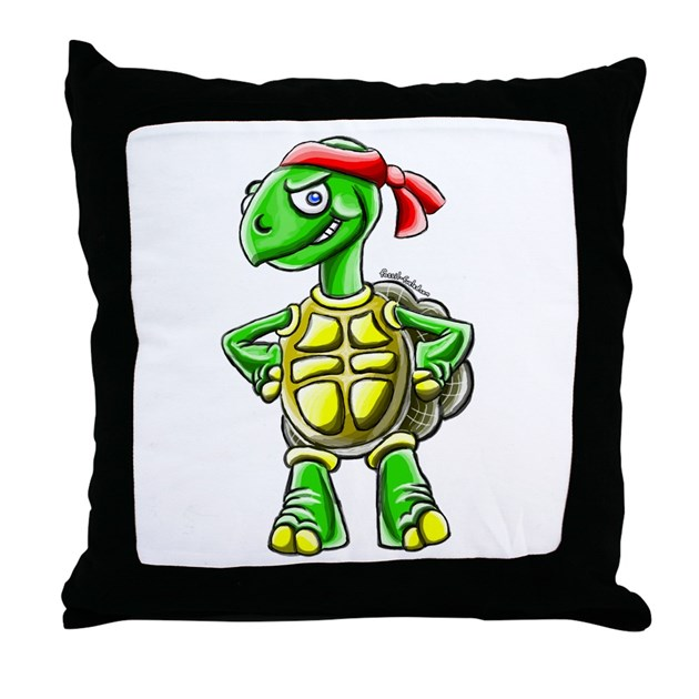 Ninja Turtle Decorative Pillow : Ninja Turtle Tortoise Throw Pillow by ninjatortoise