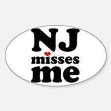 new jersey misses me Decal
