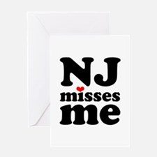 new jersey misses me Greeting Card