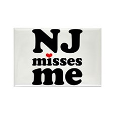 new jersey misses me Rectangle Magnet