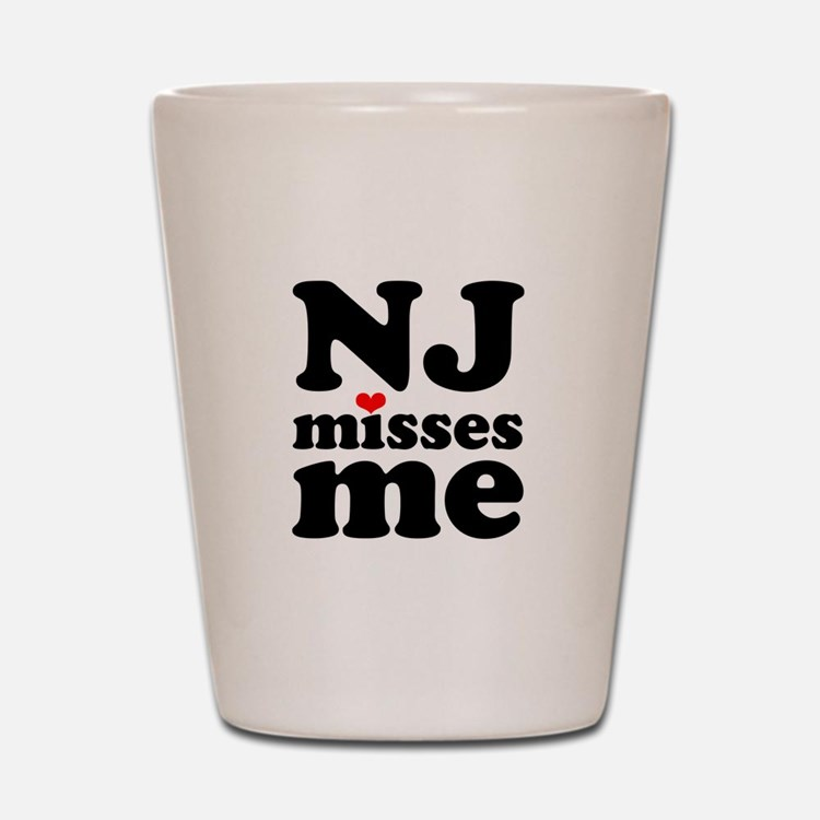 new jersey misses me Shot Glass