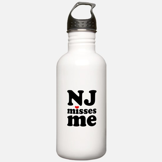 new jersey misses me Water Bottle