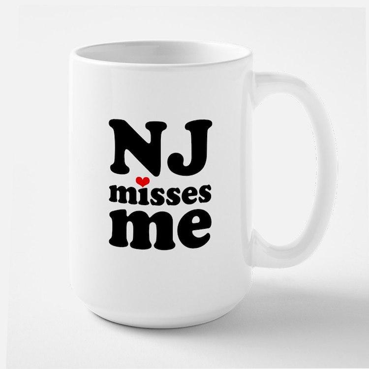 new jersey misses me Large Mug