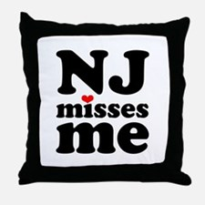 new jersey misses me Throw Pillow