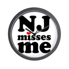 new jersey misses me Wall Clock