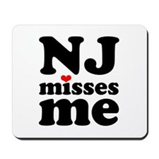 new jersey misses me Mousepad