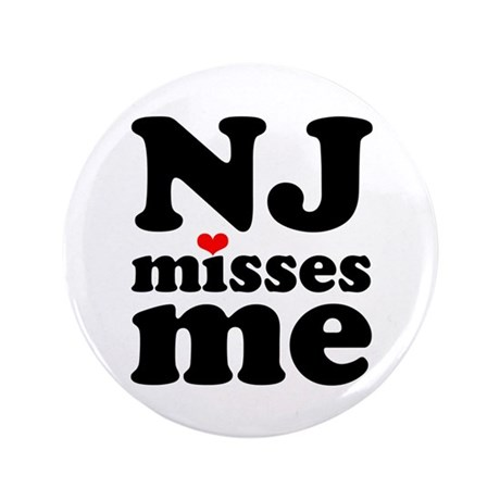 "new jersey misses me 3.5"" Button"