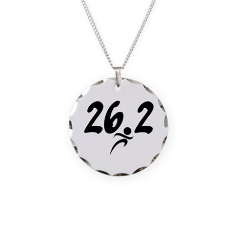 26.2 Marathon Necklace Circle Charm