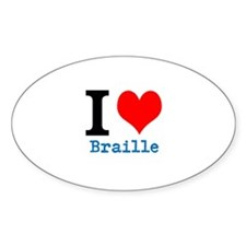 I heart Braille Decal
