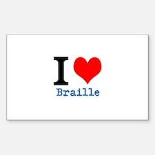 Cute Braille Decal