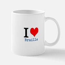 I heart Braille Mugs