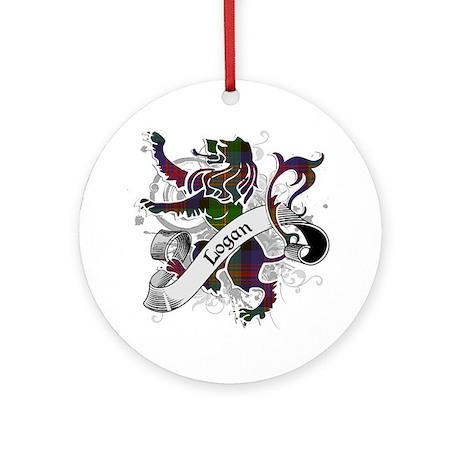 Logan Tartan Lion Ornament (Round)