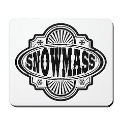 Snowmass Vintage Square Mousepad