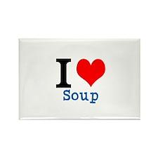 Cute I heart soup Rectangle Magnet