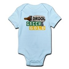 green & gold Infant Bodysuit