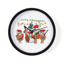 A musical Merry Christmas Wall Clock