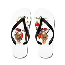 A musical Merry Christmas Flip Flops