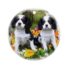 king charles spaniel Ornament (Round)