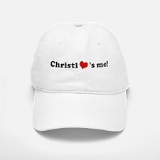 Christi loves me Baseball Baseball Cap