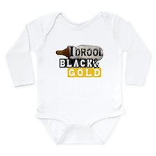 black & gold Onesie Romper Suit