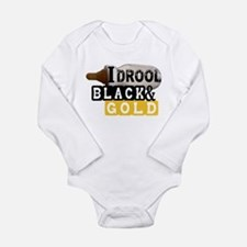 black & gold Onesie Romper Suit