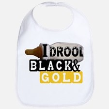 black & gold Bib