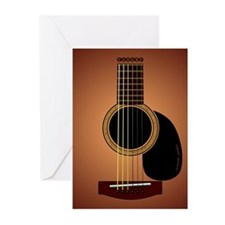 acoustic guitar sunburst Greeting Cards (Pk of 20)