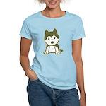Husky Puppy Women's Light T-Shirt