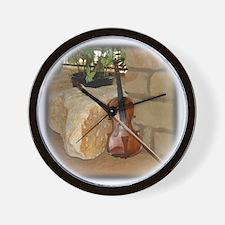 Grandpa's fiddle Wall Clock