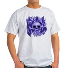 Skull in Flames (blue) T-Shirt