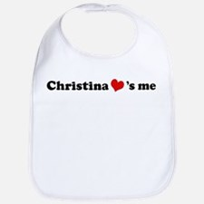 Christina loves me Bib