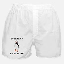 Everyday I'm Pufflin Boxer Shorts