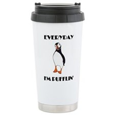 Everyday I'm Pufflin Thermos Mug