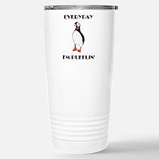 Everyday I'm Pufflin Thermos Mug
