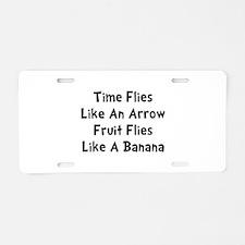 Fruit Flies Aluminum License Plate