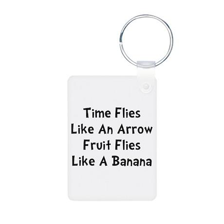 Fruit Flies Aluminum Photo Keychain