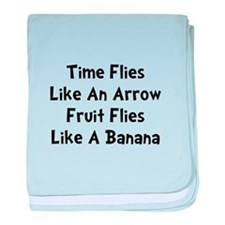 Fruit Flies baby blanket