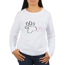 Vet Tech Paw Print + Stethoscope T-Shirt