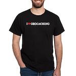 I Love Geocaching Black T-Shirt